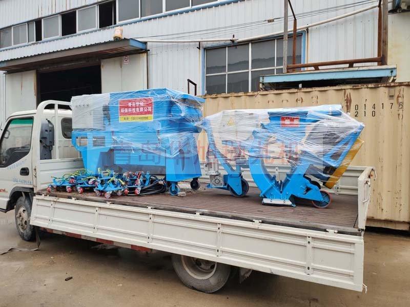 850移动式抛丸机发往山东青岛市城阳区